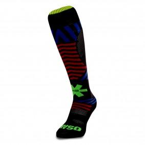 Fantasy Socks - Hockeysokken - Osaka hockey -  kopen - Osaka Sox Razzle Dazzle Black | Hockeykousen