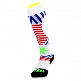 Fantasy Socks - Hockeysokken - Osaka hockey -  kopen - Osaka Sox Razzle Dazzle White | Hockeykousen
