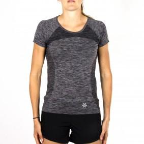 Hockey t-shirts - Hockeykleding - Osaka kleding -  kopen - Osaka Tech Knit Short Sleeve Tee Women – Black Melange