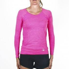 Hockey t-shirts - Hockeykleding - Osaka kleding -  kopen - Osaka Tech Knit Long Sleeve Tee Women – Pink Melange