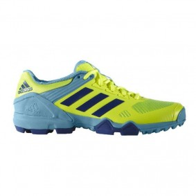 Adidas Brandshop - Adidas hockeyschoenen - Hockey outlet - Hockeyschoenen - Hockeyschoenen sale / outlet - Senior hockeyschoenen -  kopen - Adidas AdiPower III Yellow-Light Bleu 2017 Edition | 25% DISCOUNT DEALS