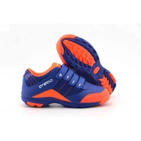 Brabo hockeyschoenen - Junior hockeyschoenen -  kopen - Brabo Velcro Navy / Orange JR hockeyschoenen met klittenbandsluiting