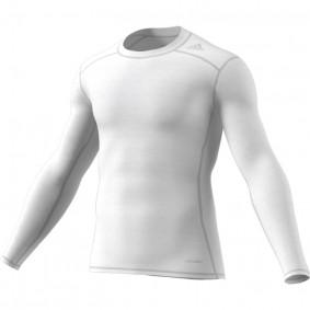 Adidas Brandshop - Hockeykleding - Thermokleding -  kopen - Adidas Tech Fit Base Long Sleeve Tee Mens Wit