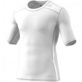 Adidas Brandshop - Hockeykleding - Thermokleding -  kopen - Adidas Tech Fit Base Short Sleeve Tee Mens Wit