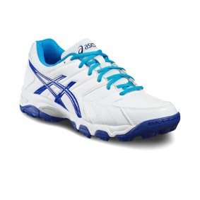 Asics hockeyschoenen - Hockey outlet - Hockeyschoenen - Hockeyschoenen sale / outlet - Junior hockeyschoenen -  kopen - Asics Gel-Blackheath 6 GS Junior Wit-Blauw | 25% DISCOUNT DEALS