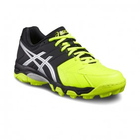 Asics hockeyschoenen - Hockey outlet - Hockeyschoenen - Hockeyschoenen sale / outlet - Junior hockeyschoenen -  kopen - Asics Gel-Blackheath 6 GS Junior Zwart-Geel | 25% DISCOUNT DEALS