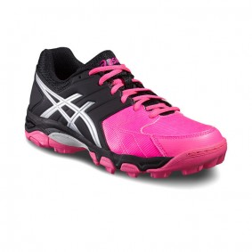 Asics hockeyschoenen - Hockey outlet - Hockeyschoenen - Hockeyschoenen sale / outlet - Junior hockeyschoenen -  kopen - Asics Gel-Blackheath 6 GS Junior Zwart-Roze | 25% DISCOUNT DEALS