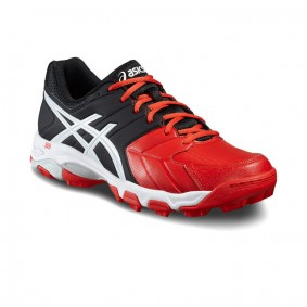 Asics hockeyschoenen - Hockey outlet - Hockeyschoenen - Hockeyschoenen sale / outlet -  kopen - Asics Gel-Blackheath 6 Men Zwart-Rood-Wit | 25% DISCOUNT DEALS