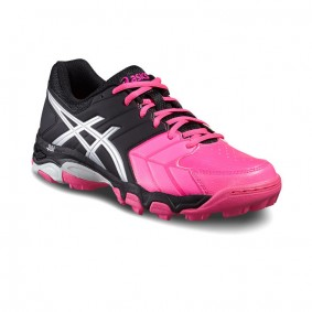 Asics hockeyschoenen - Hockey outlet - Hockeyschoenen - Hockeyschoenen sale / outlet -  kopen - Asics Gel-Blackheath 6 Women Zwart-Roze-Wit | 25% DISCOUNT DEALS