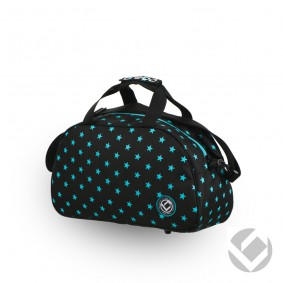 Hockeytassen - Shoulderbags - kopen - Brabo Shoulderbag Camp Stars Black/Aqua | Pre order! Levering begin juli!