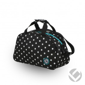 Hockeytassen - Shoulderbags - kopen - Brabo Shoulderbag Camp Stars Black/White | Pre order! Levering begin juli!