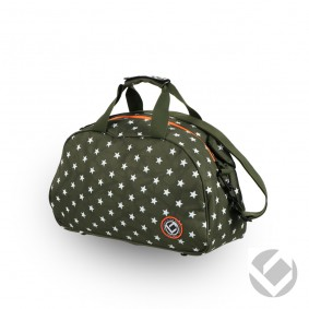 Hockeytassen - Shoulderbags - kopen - Brabo Shoulderbag Camp Stars Green/White | Pre order! Levering begin juli!