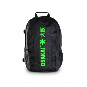 Brandshops - Hockeytassen - Osaka hockey - Rugzakken - kopen - Osaka X LARGE BACKPACK – BLACK / GREEN + Laptop pocket | 25% DISCOUNT DEALS
