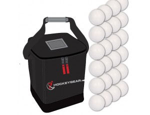 Clubmaterialen bulk - Hockeyballen - Hockeyballen clubs - Hockeygear shop - Referee, coach en trainer - kopen - 24 wedstrijdballen smooth incl. Hockeygear.eu tas zwart