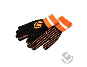 Hockeyhandschoenen - Protectie - Winterhandschoenen - kopen - Brabo Winterglove Extra Grip Black Orange
