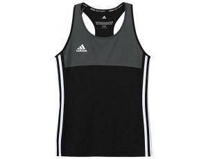 Adidas teamkleding - Hockey t-shirts - Hockeykleding - T16 teamkleding - kopen - Adidas T16 Climacool Sleeveless Tee Jeugd Meisjes Black