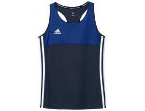 Adidas teamkleding - Hockey t-shirts - Hockeykleding - T16 teamkleding - kopen - Adidas T16 Climacool Sleeveless Tee Jeugd Meisjes Navy
