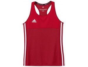 Adidas teamkleding - Hockey t-shirts - Hockeykleding - T16 teamkleding - kopen - Adidas T16 Climacool Sleeveless Tee Jeugd Meisjes Red
