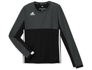 Adidas teamkleding - Hockey t-shirts - Hockeykleding - T16 teamkleding - kopen - Adidas T16 Climacool Long Sleeve Tee Jeugd Meisjes Black