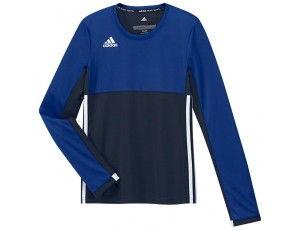 Adidas teamkleding - Hockey t-shirts - Hockeykleding - T16 teamkleding - kopen - Adidas T16 Climacool Long Sleeve Tee Jeugd Meisjes Navy