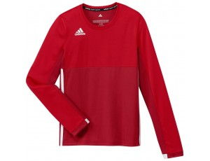 Adidas teamkleding - Hockey t-shirts - Hockeykleding - T16 teamkleding - kopen - Adidas T16 Climacool Long Sleeve Tee Jeugd Meisjes Red