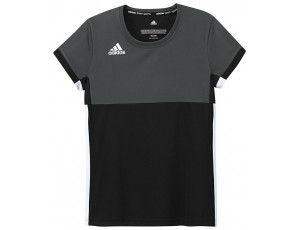 Adidas teamkleding - Hockey t-shirts - Hockeykleding - T16 teamkleding - kopen - Adidas T16 Climacool Short Sleeve Tee Jeugd Meisjes Black