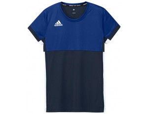 Adidas teamkleding - Hockey t-shirts - Hockeykleding - T16 teamkleding - kopen - Adidas T16 Climacool Short Sleeve Tee Jeugd Meisjes Navy