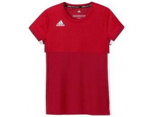 Adidas teamkleding - Hockey t-shirts - Hockeykleding - T16 teamkleding - kopen - Adidas T16 Climacool Short Sleeve Tee Jeugd Meisjes Red