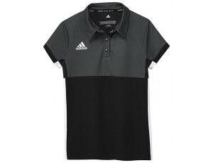 Adidas teamkleding - Hockey t-shirts - Hockeykleding - T16 teamkleding - kopen - Adidas T16 Climacool Polo Jeugd Meisjes Black