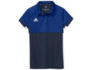 Adidas teamkleding - Hockey t-shirts - Hockeykleding - T16 teamkleding - kopen - Adidas T16 Climacool Polo Jeugd Meisjes Navy