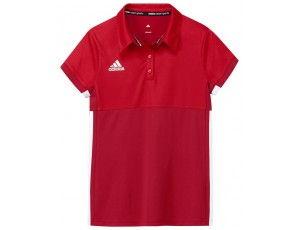 Adidas teamkleding - Hockey t-shirts - Hockeykleding - T16 teamkleding - kopen - Adidas T16 Climacool Polo Jeugd Meisjes Red