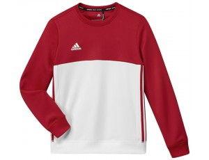 Adidas teamkleding - Hockey truien - Hockeykleding - T16 teamkleding - kopen - Adidas T16 Crew Sweat Jeugd Red