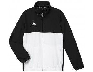 Adidas teamkleding - Hockey trainingsjassen - Hockeykleding - T16 teamkleding - kopen - Adidas T16 Team Jacket Jeugd Black