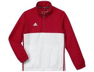 Adidas teamkleding - Hockey trainingsjassen - Hockeykleding - T16 teamkleding - kopen - Adidas T16 Team Jacket Jeugd Red