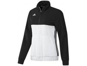 Adidas teamkleding - Hockey trainingsjassen - Hockeykleding - T16 teamkleding - kopen - Adidas T16 Team Jacket Women Black