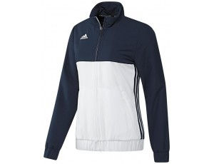 Adidas teamkleding - Hockey trainingsjassen - Hockeykleding - T16 teamkleding - kopen - Adidas T16 Team Jacket Women Navy