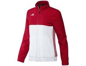 Adidas teamkleding - Hockey trainingsjassen - Hockeykleding - T16 teamkleding - kopen - Adidas T16 Team Jacket Women Red