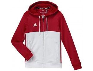 Adidas teamkleding - Hockey truien - Hockeykleding - T16 teamkleding - kopen - Adidas T16 Hoody Jeugd Red