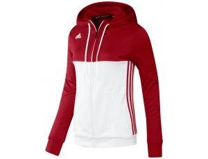 Adidas teamkleding - Hockey truien - Hockeykleding - T16 teamkleding - kopen - Adidas T16 Hoody Women Red