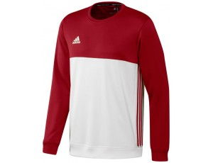 Adidas teamkleding - Hockey truien - Hockeykleding - T16 teamkleding - kopen - Adidas T16 Crew Sweat Men Red