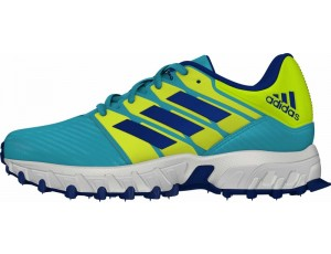 Adidas Brandshop - Adidas hockeyschoenen - Hockey outlet - Hockeyschoenen - Junior hockeyschoenen - Schoenen -  kopen - Adidas Hockey Lux Junior Yellow-Light Blue | 25% DISCOUNT DEALS