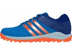 Adidas Brandshop - Adidas hockeyschoenen - Senior hockeyschoenen -  kopen - Adidas SRS.4 Blue-Orange (Pre Order leverbaar vanaf Juli 2016)
