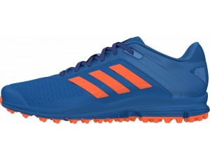 Adidas Brandshop - Adidas hockeyschoenen - Senior hockeyschoenen -  kopen - Adidas Zone Dox Blue-Orange (Pre Order leverbaar vanaf Juli 2016)