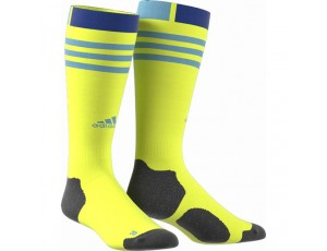 Fantasy Socks - Hockeykleding - Hockeysokken - kopen - Adidas HY kous Neongeel/Blauw