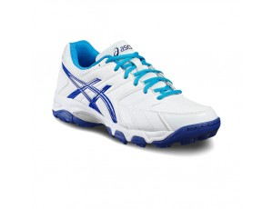 Asics hockeyschoenen - Hockey outlet - Hockeyschoenen - Junior hockeyschoenen - Schoenen - kopen - Asics Gel-Blackheath 6 GS Junior Wit-Blauw | 25% DISCOUNT DEALS