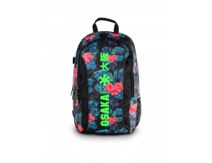 Brandshops - Hockeytassen - Osaka hockey - Rugzakken -  kopen - Osaka SENIOR LARGE BACKPACK – ANTHRACITE FLOWERS /GREEN