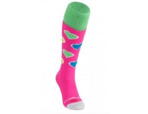 Fantasy Socks - Hockeysokken - kopen - Brabo Socks Harts – Pink/Lime