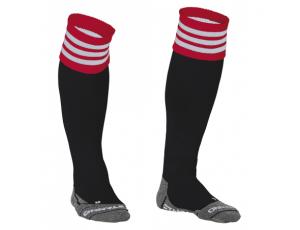 Hockeykleding - Hockeysokken - Standaard kousen - kopen - Stanno Ring Sock Zwart/Rood/Wit