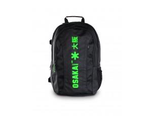 Hockeytassen - Rugzakken - Brandshops - Osaka hockey -  kopen - Osaka X LARGE BACKPACK – BLACK / GREEN + Laptop pocket | 25% DISCOUNT DEALS