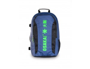 Brandshops - Hockeytassen - Osaka hockey - Rugzakken - kopen - Osaka x LARGE BACKPACK – NAVY / GREEN + Laptop pocket | 25% DISCOUNT DEALS